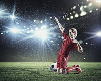 Scopo di calcio Immagine Stock Libera da Diritti