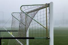 Scopo di calcio in parco Calcio immagine stock libera da diritti