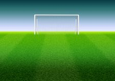 Scopo di calcio sul campo illustrazione vettoriale