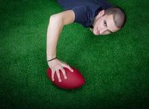 Scopo di football americano immagini stock