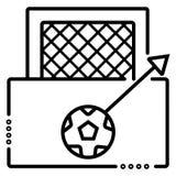 Scopo e palla di calcio royalty illustrazione gratis