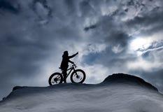 Scopo e successo della bici; concetto di sport della bicicletta fotografia stock