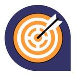 Scopo o icona dell'obiettivo dell'insieme tricolore Immagini Stock