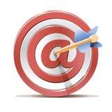 Scopo rosso e freccia dell'obiettivo dei dardi illustrazione di stock