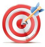Scopo rosso e freccia dell'obiettivo dei dardi. Immagini Stock