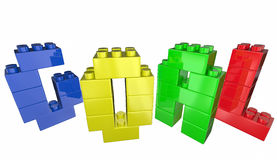 Scopo Toy Blocks Achievement Accomplishment Success Immagine Stock