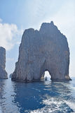 The Scopolo Faraglioni rock, Capri, Italy. The Scopolo, one of the three Faraglioni rocks, Capri island, Italy Royalty Free Stock Photography