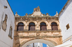The Scoppa arch. ostuni. Puglia. Italy. Royalty Free Stock Photo