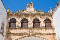 The Scoppa arch. ostuni. Puglia. Italy. Stock Images
