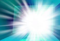 Scoppiando luce che esce dallo schermo di Digital Fotografie Stock