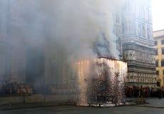 SCOPPIO台尔卡罗,佛罗伦萨,意大利,广场中央寺院 图库摄影