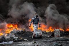 Scoppio antigovernativo Ucraina di proteste Immagini Stock