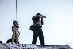Scoppio antigovernativo Ucraina di proteste Immagine Stock