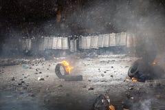 Scoppio antigovernativo Ucraina di proteste Fotografia Stock Libera da Diritti
