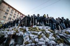 Scoppio antigovernativo Ucraina di proteste Fotografia Stock