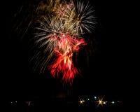 Scoppio dei fuochi d'artificio Immagine Stock
