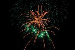 Scoppio dei fuochi d'artificio Fotografie Stock