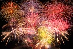 Scoppio dei fuochi d'artificio Fotografia Stock
