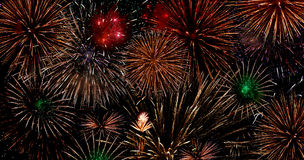 Scoppio dei fuochi d'artificio Immagini Stock Libere da Diritti