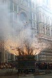 SCOPPIO DEL CARRO, FIRENZE, ITALIA, PIAZZA DUOMO Fotografia Stock