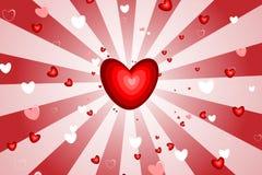 Scoppio del cuore Fotografia Stock