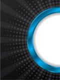 Scoppio del disegno blu dell'opuscolo dell'anello Immagini Stock Libere da Diritti