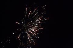 Scoppio del fuoco d'artificio Fotografia Stock