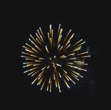 Scoppio del fuoco d'artificio Immagini Stock