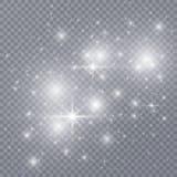 Scoppio della stella con le scintille illustrazione vettoriale