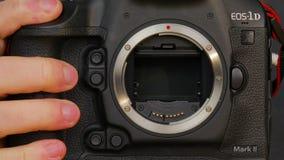 Scoppio di alta velocità del segno II di EOS 1Dx di Canon video d archivio