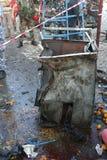 Scoppio di bomba libanese Immagine Stock Libera da Diritti