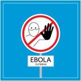 Scoppio di ebola Fotografia Stock