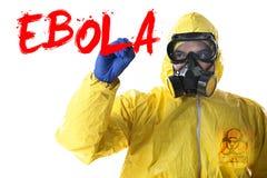 Scoppio di ebola Fotografia Stock Libera da Diritti
