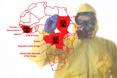 Scoppio di ebola Fotografie Stock