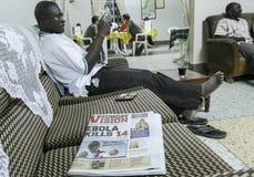 Scoppio di ebola Immagine Stock Libera da Diritti