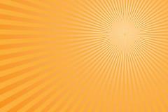 Scoppio giallo-chiaro dei raggi di Sun fotografie stock