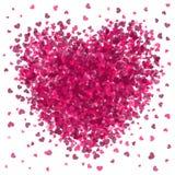 Scoppio rosa del cuore Fotografia Stock Libera da Diritti