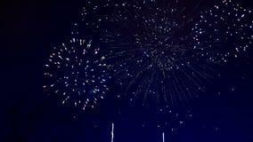 Scoppio verde e rosso dei fuochi d'artificio illustrazione vettoriale