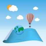 Scopra il galleggiamento del pallone del pianeta Fotografie Stock Libere da Diritti