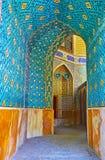 Scopra il madraseh medievale di Chaharbagh, Ispahan, Iran Immagini Stock Libere da Diritti