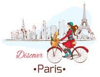 Scopra il manifesto di Parigi illustrazione vettoriale