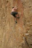 Scopra lo scalatore posteriore fotografie stock libere da diritti