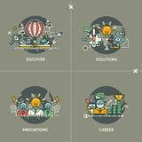 Scopra, soluzioni, le innovazioni, carriera illustrazione vettoriale