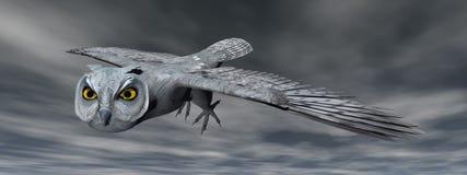 Scops owl - 3D render Royalty Free Stock Images