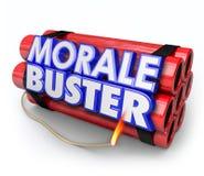 Scoraggiamento di Buster Dynamite Bomb Bad Motivation di morale Fotografia Stock Libera da Diritti