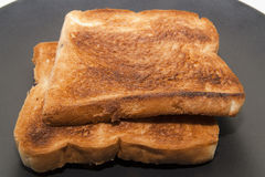 Scorched breads. Closed up of two Scorched breads Stock Images
