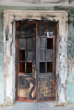 Scorched broken door Royalty Free Stock Photography