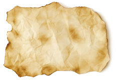 Scorched old paper sheet Stock Photography