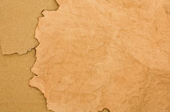Scorched paper and cardboard backround Royalty Free Stock Images