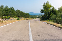 Scorching Hot Croatian Landscape Summer Day Road Perspective Val Stock Image